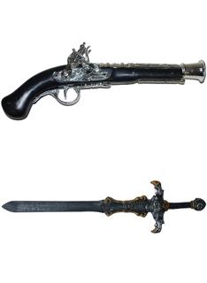 Meče, Pistole, Zbraně