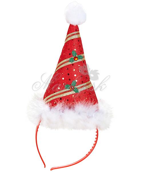 Čelenka klobouček mini Santa 05683