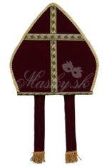 Čepice biskupská bordová 48035
